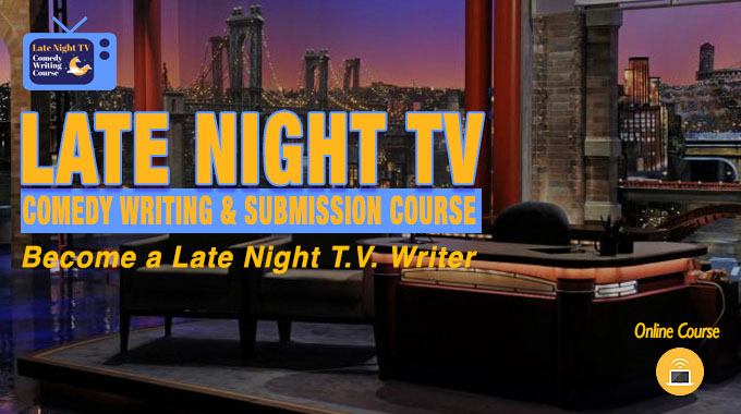 how to write comedy for late night tv logo