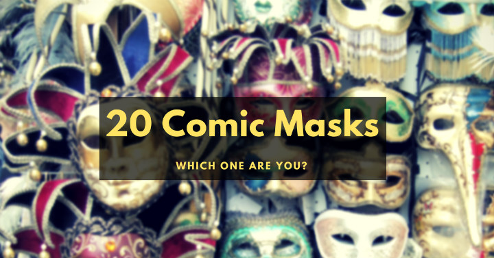 20 comic masks