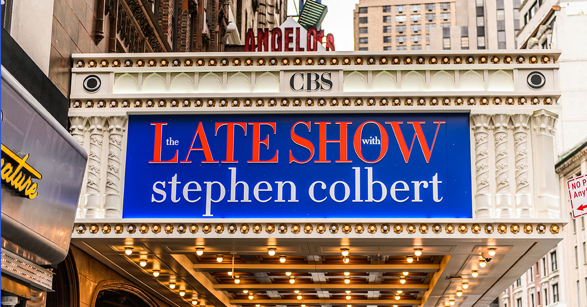 late show stephen colbert marquis at the Ed Sullivan Theater